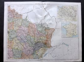 Gross 1920 Large Map. France - North East